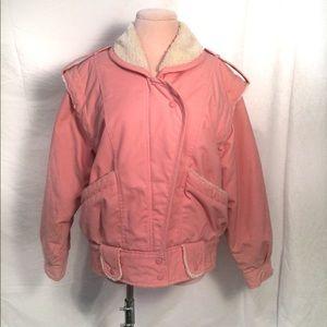 VTG Andy Johns Bubble Gum pink winter Jacket